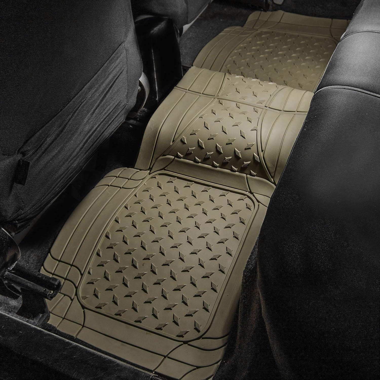 SUV and Van FH Group FH-V11307R010 Semi Custom Trimmable Vinyl Rear Floor Mat Beige for Sedan