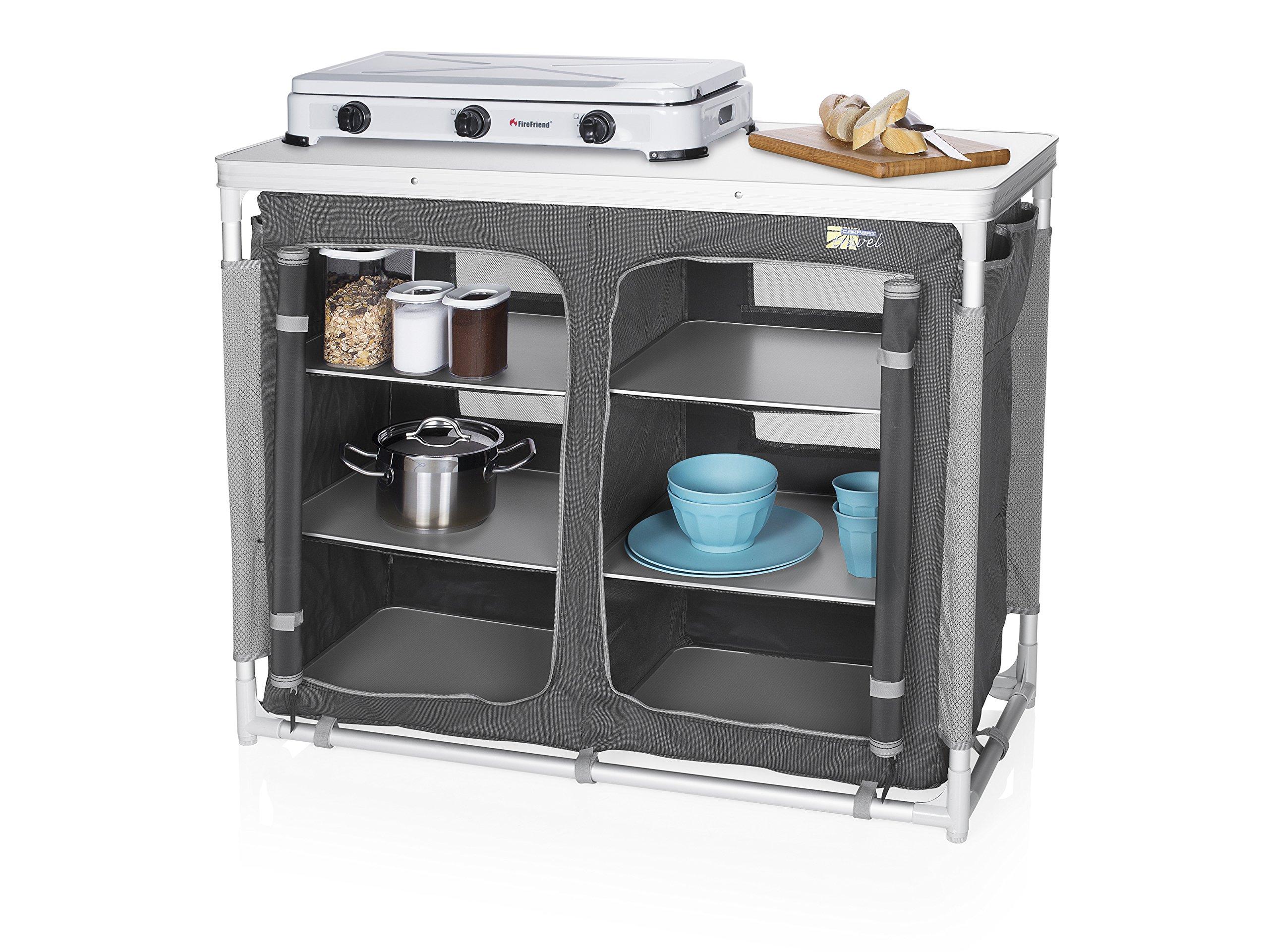 Cocina de camping Madrid Campart Travel KI-0734 – Seis compartimentos – Bolsa de almacenamiento