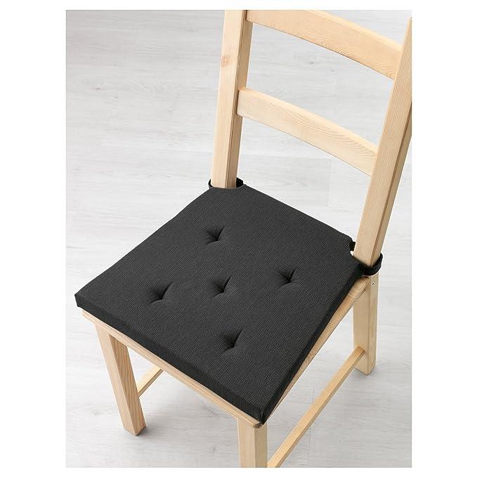 ZigZag Trading Ltd IKEA Justina - Pad de Silla Gris/Negro ...