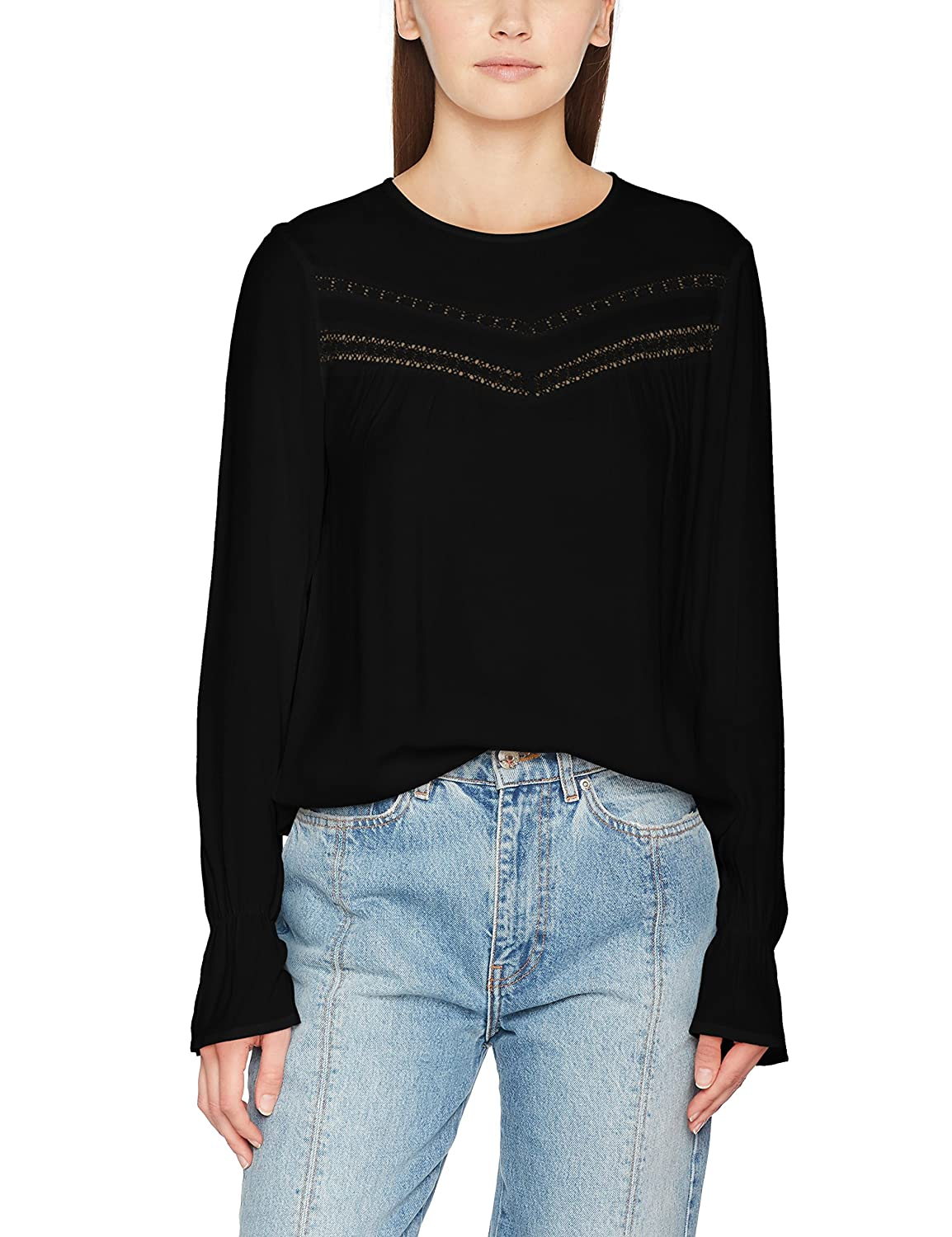 Only Onlhanna L/S Top Box Wvn Blusa para Mujer
