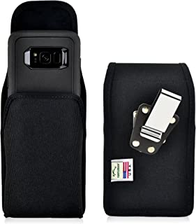 product image for Turtleback Belt Clip Case Compatible with Samsung Galaxy S8 w/OB Defender Case Black Vertical Holster Nylon Pouch with Heavy Duty Rotating Belt Clip Made in USA