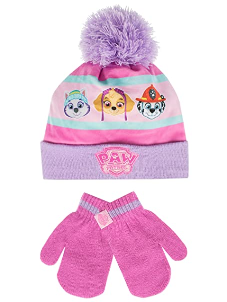 0222614e373b3 Paw Patrol Girls' Paw Patrol Hat and Gloves Set Multicolored One Size