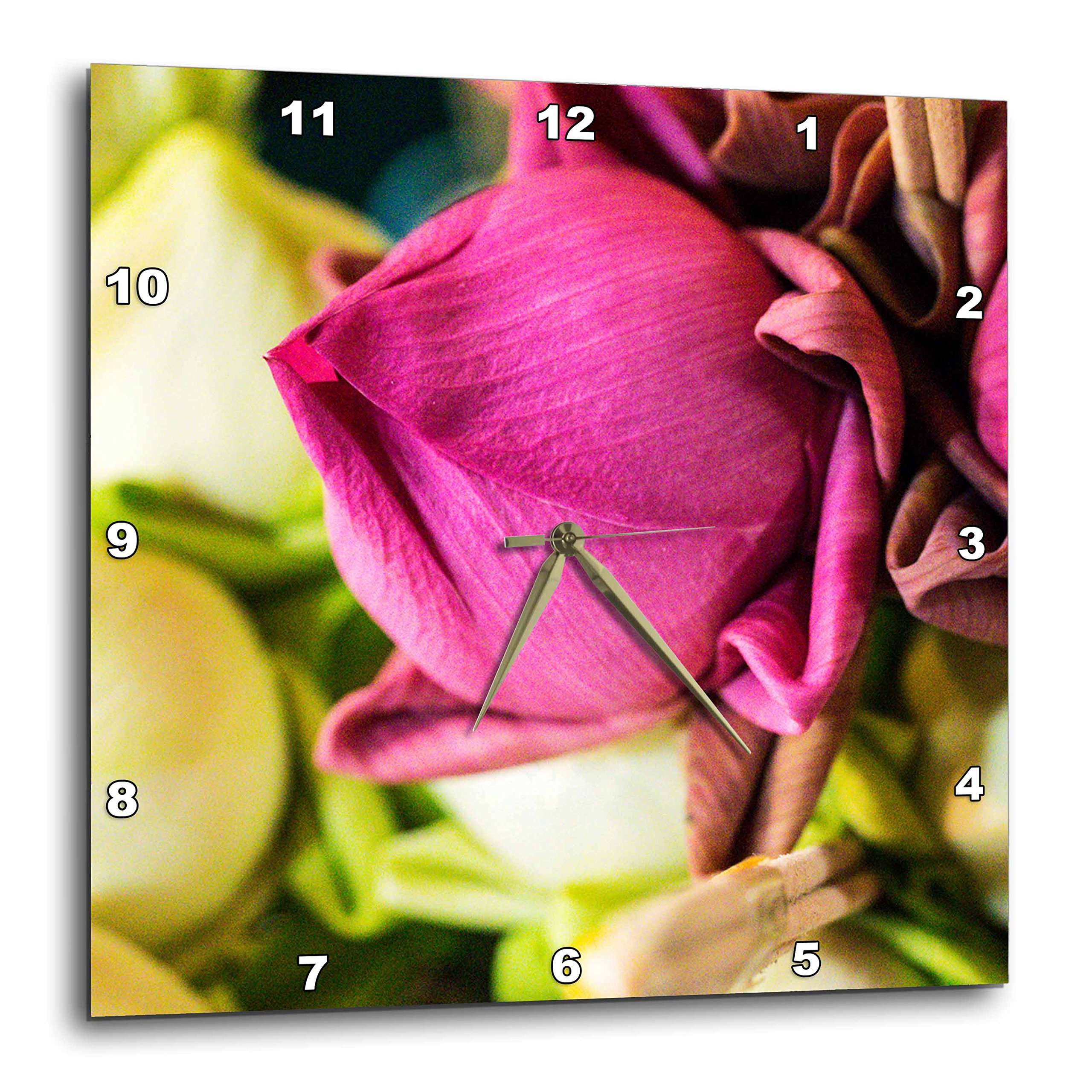 3dRose Danita Delimont - Flowers - Thailand, Chiang Mai, Flowers at the Thai Market Place - 15x15 Wall Clock (dpp_276974_3) by 3dRose