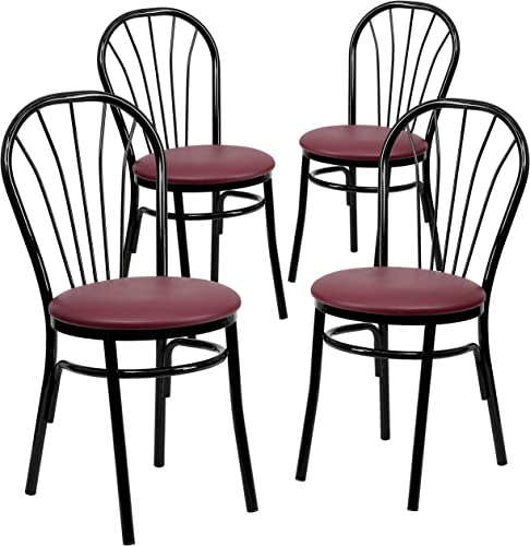 Flash Furniture 4 Pk. HERCULES Series Fan Back Metal Chair