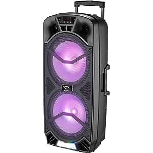 Sytech SY-XTR62BT, Altavoz Bluetooth Professional Inalámbrico Trolley, 26 x 38,5 x 82 cm, 300W