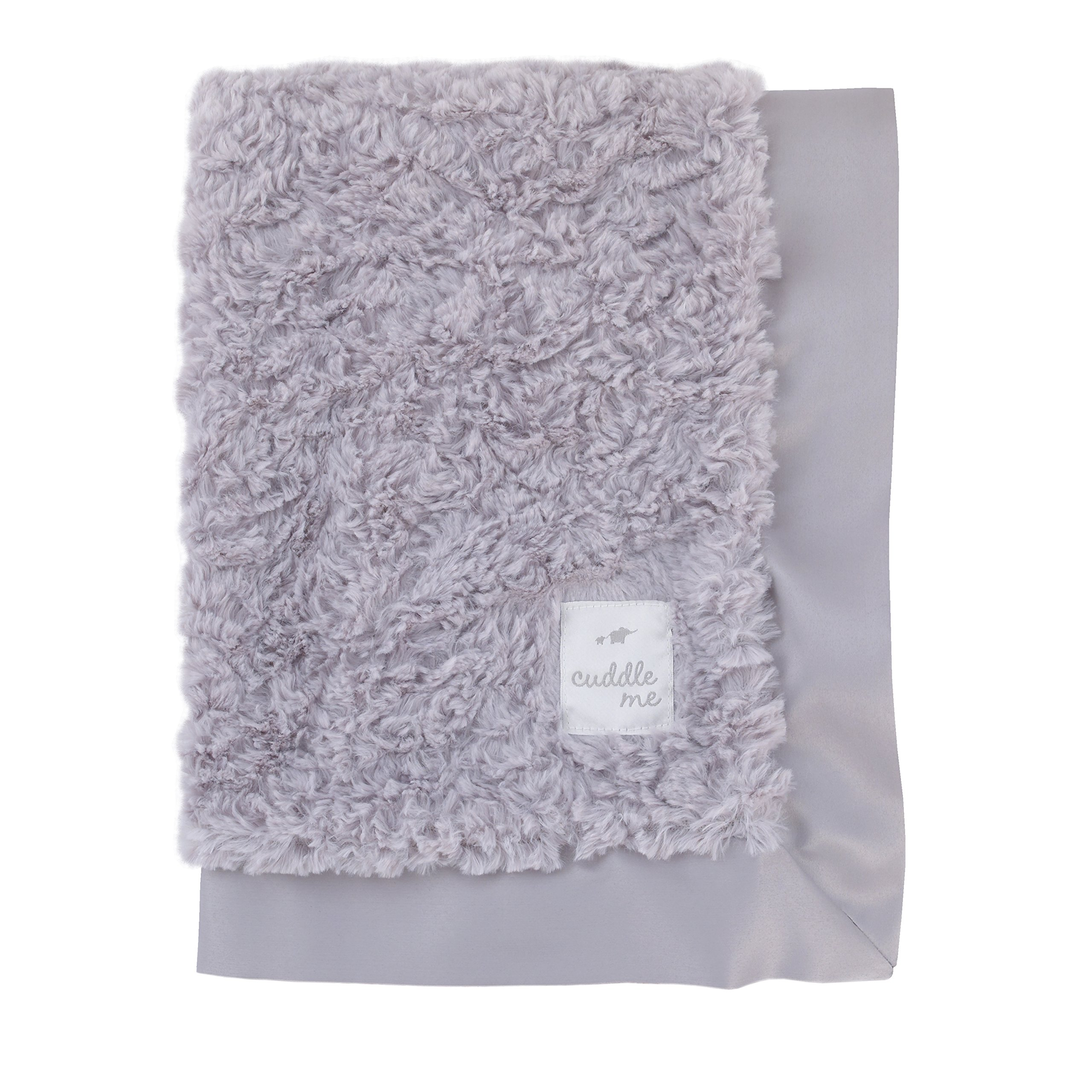Cuddle Me Luxury Plush Blanket with Matte Satin Border, Grey by Cuddle Me