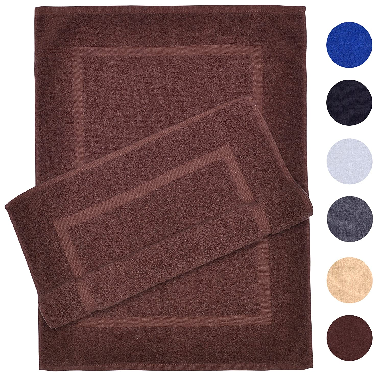 Alfombrilla de baño (toallas por alurri - lavable a alfombra para baño - Alfombrillas de Baño Absorbente algodón para bebé - Niños - 2 Pack Bundle, ...