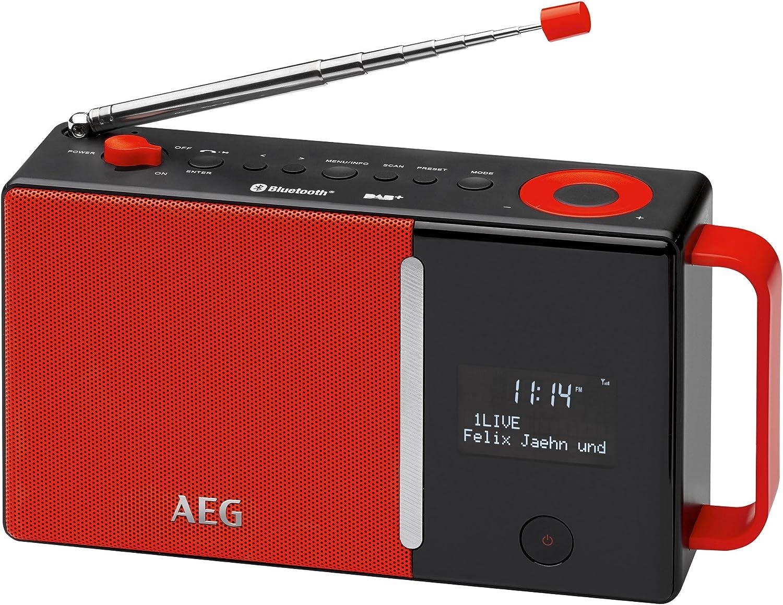 AEG Dab 4158Dab + Radio Incluye PLL FM Radio, Bluetooth, Entrada Auxiliar, RDS, de batería de operativos/Red Rojo/Negro