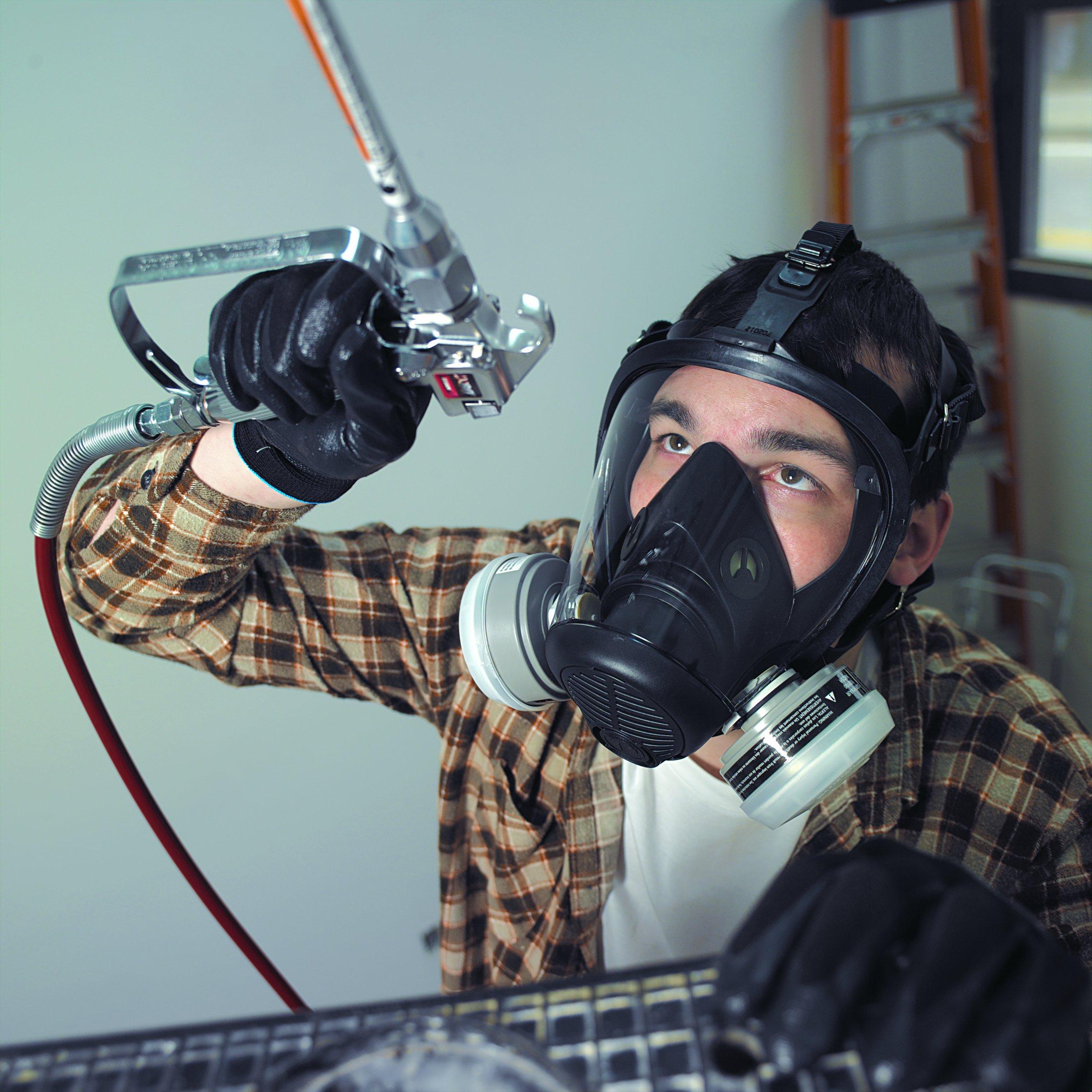 Honeywell 766184 Survivair Opti-Fit Silicone Full Facepiece Respirator, Medium by Honeywell (Image #2)