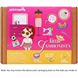 Little Fashionista 3-In-1 Girl Craft Toy for Kids: Gift For Girls Ages 5-10 Years