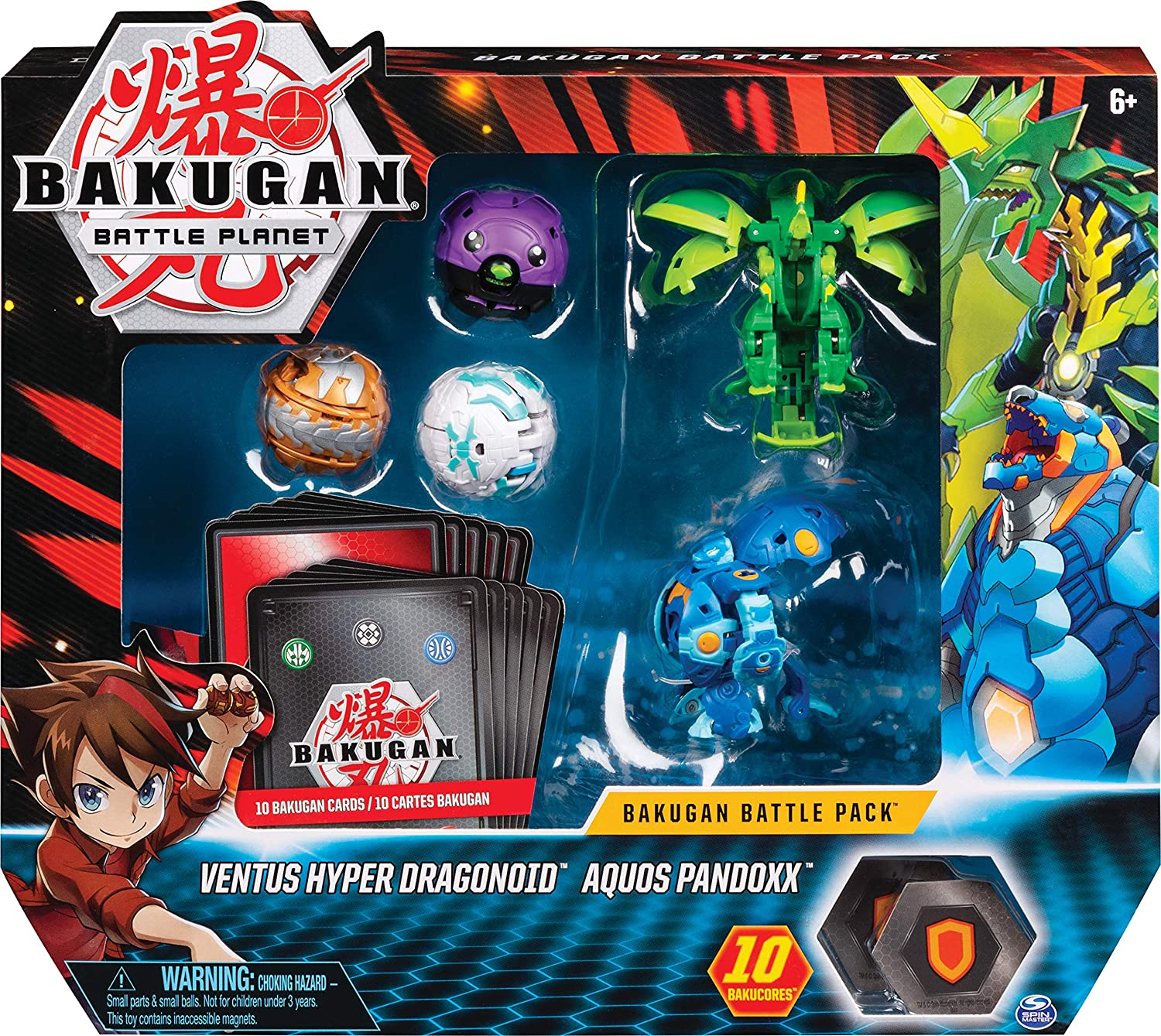 Bakugan- Battle Pack, 5 Bolas, 3 clásicos y 2 Ultra, Fire Knight Blanco, Mini Bear Negro y Long Body Dragon Oro, Panda Azul y Pro Dragonoid Verde, 6058572: Amazon.es: Juguetes y juegos