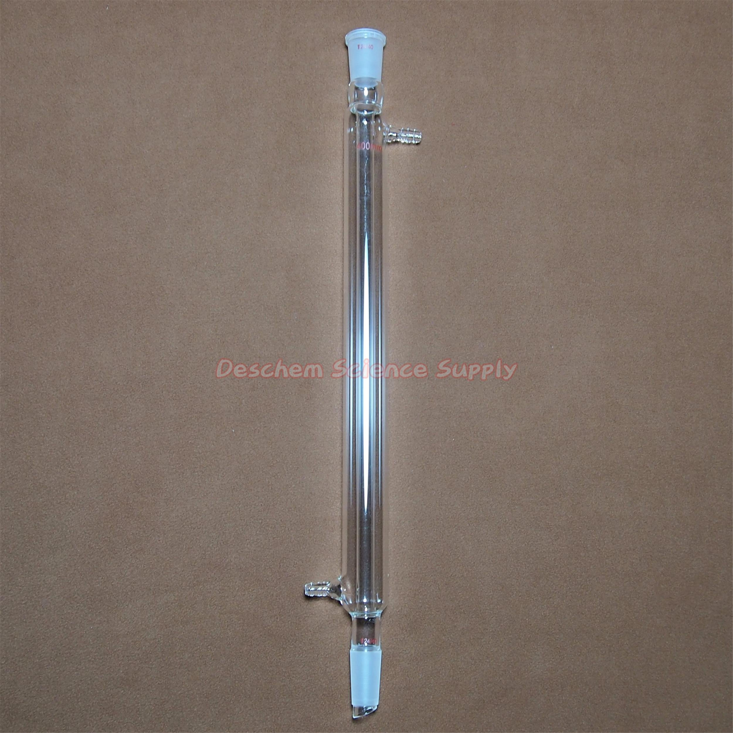 Deschem 500mm 24/40 Liebig Condenser,24/40,Glass West Column,Lab Glassware