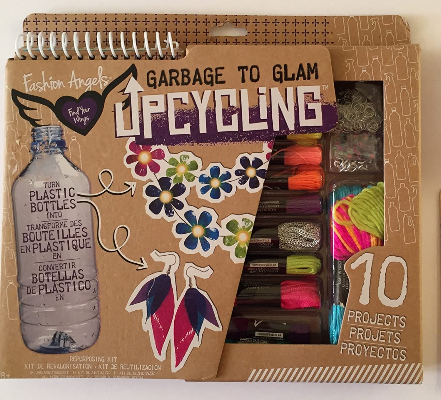 Amazon.com: Fashion Angels: Garbage to Glam Upcycling Design Kit, 10 Projects with Plastic Bottles, Clear Plastic Round Bead Case/Holder Plus a Pair of ...