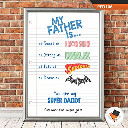 Personalizado Iron Man Marvel impresión - regalo para Papá ...