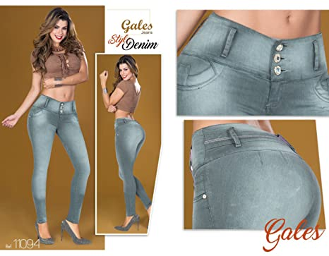 f3548ccade Gray Denim 100% Authentic Colombian Push Up 11094 Jean by Gales 1-2 U.S