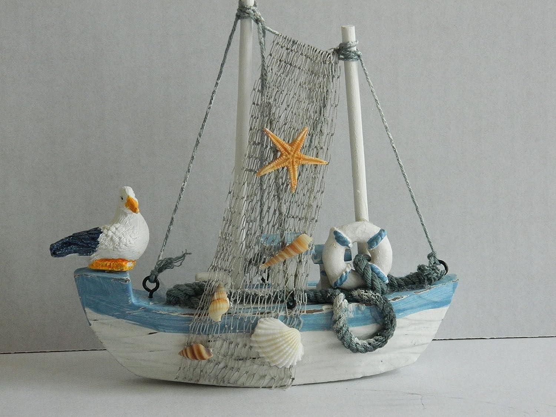 Madera Pesca Barco Ornamento