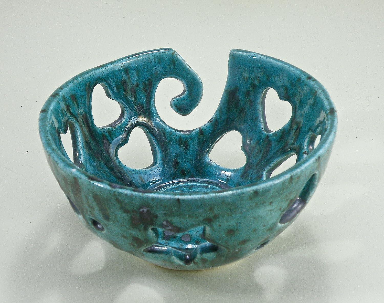 Handmade Pottery Yarn  knitting Bowl