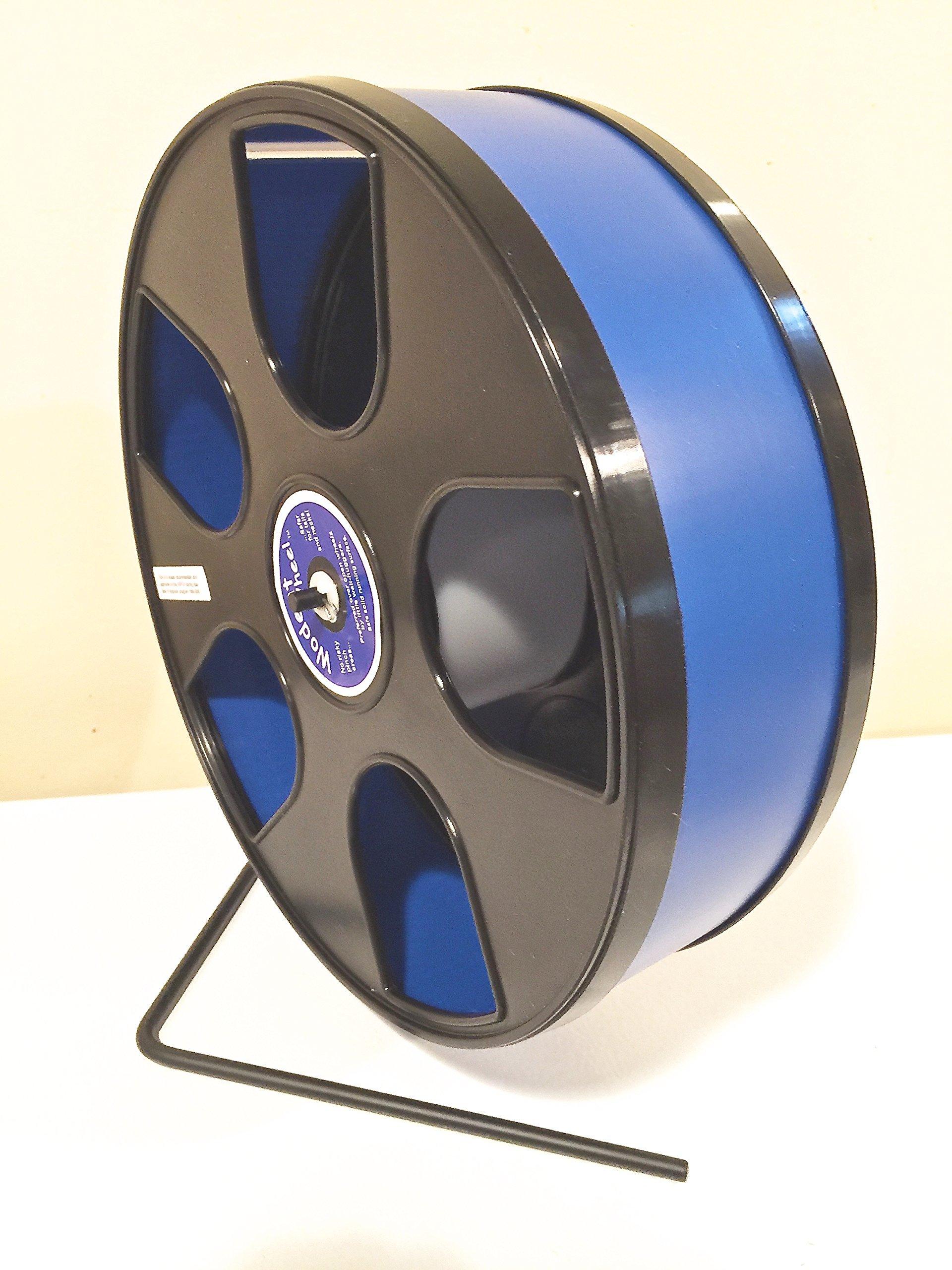 Chinchilla, Hedgehog, WIDE TRACK 12'' Diameter Exercise Wodent Wheel-Dark Blue with Black Panels