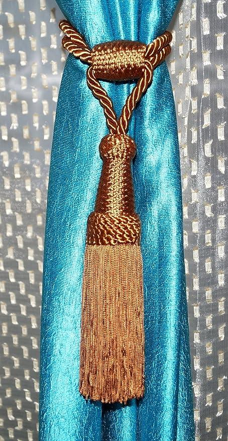 Lazos de cortina con cordón (marrón), decoración para el hogar ...