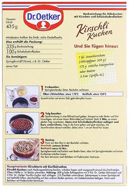 Dr oetker kirschli kuchen