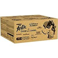 Felix Katzenfutter So gut wie es aussieht in Gelee mit Rind, Huhn, Kabeljau und Thunfisch (120 x 100g Beutel)