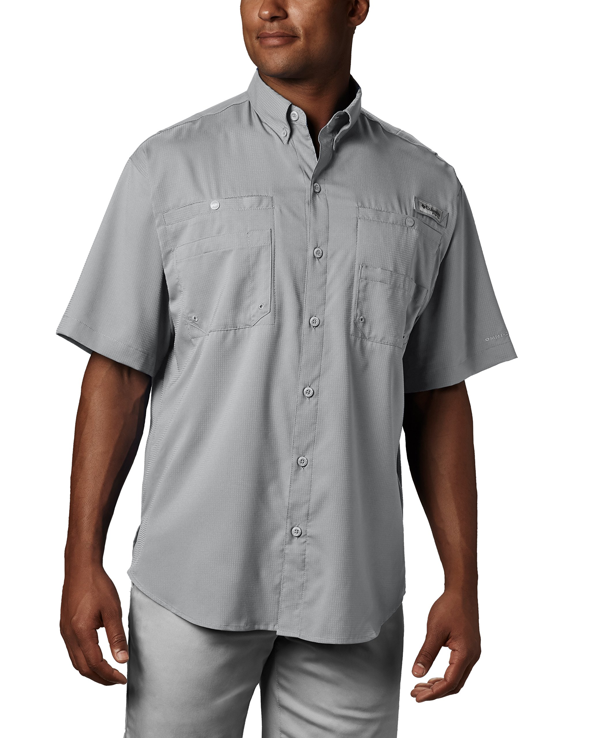 Columbia Men's Tamiami II Short Sleeve Fishing Shirt, Cool Grey, X-Small by Columbia (Image #3)