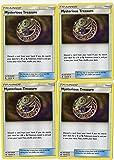 POKEMON - TRAINER SET - MYSTERIOUS TREASURE 113/131 - SUN MOON FORBIDDEN LIGHT - 4 CARD LOT