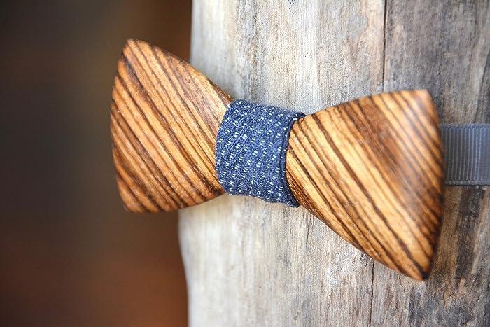 amazon com exotic wooden bow tie zebrawood handmade