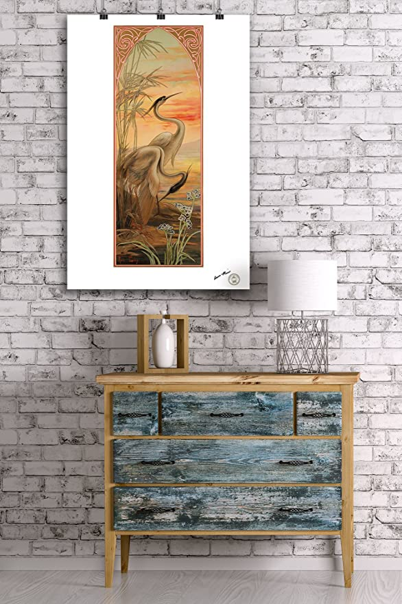 Amazon.com: Heron panel Vintage Poster (artist: Golay) c ...