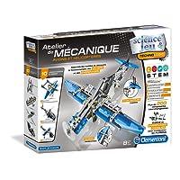 Clementoni - 52225-Atelier Mécanique - Avions et hélicoptères-Jeu scientifique