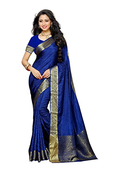 3e8c8ac05d Mimosa Women's Tassar Silk Saree With Blouse Piece (2073-Nvy,Navy Blue,Free  Size): Amazon.in: Clothing & Accessories