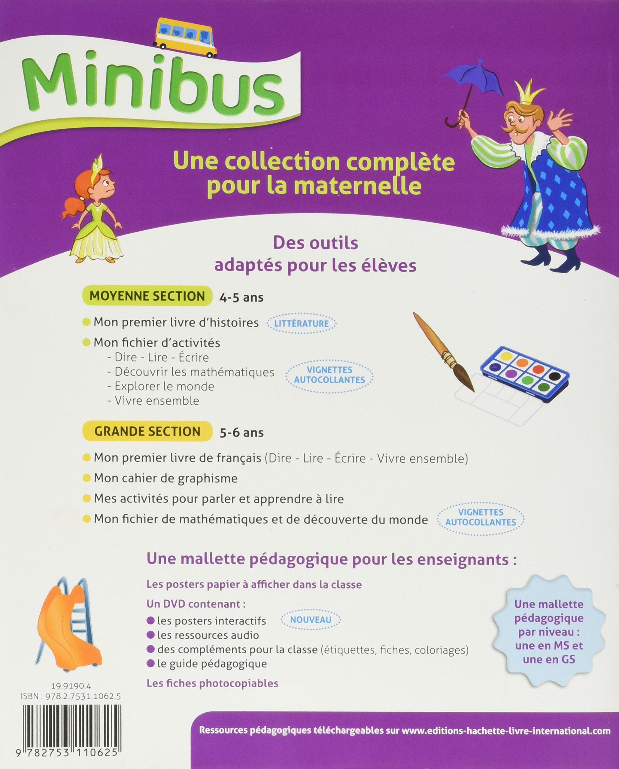 Minibus Maternelle Moyenne Section Mon Premier Livre D