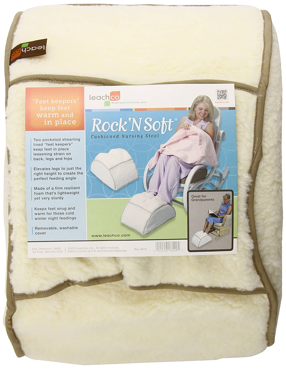 Leachco Rock N Soft Cushioned Nursing Stool, Ivory 13549