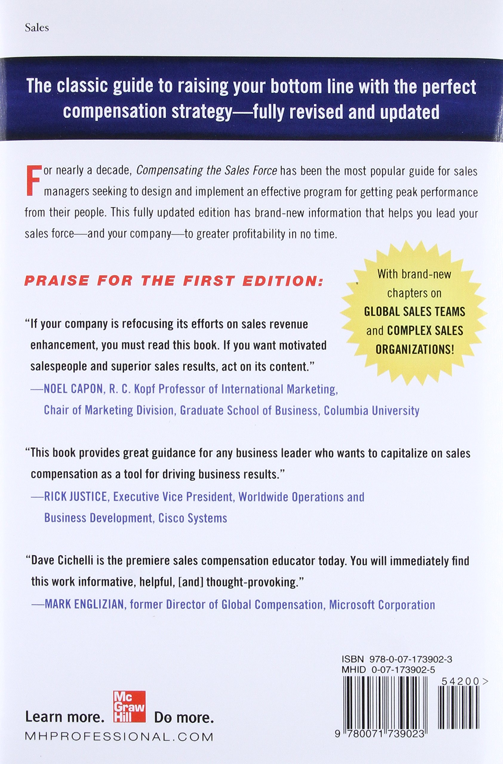 Compensating the sales force a practical guide to designing winning compensating the sales force a practical guide to designing winning sales reward programs second edition david j cichelli 9780071739023 amazon fandeluxe Choice Image