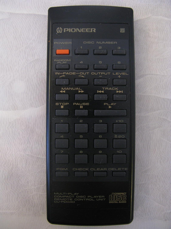amazon com pioneer multi play compact disc player remote control rh amazon com pioneer axd7246 remote control manual pioneer remote controller manual