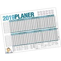 itenga Urlaubsplaner 2019 Wandkalender abwischbar DIN A1 (84,1 x 59,4 cm) 250g/m² Personalplaner Mitarbeiter
