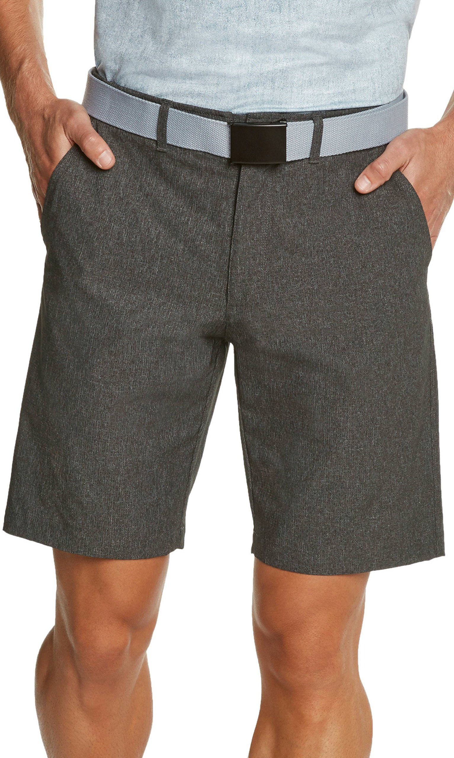 Dry Fit Golf Shorts for Men - Casual Mens Shorts Moisture Wicking - Men's Chino Shorts with Elastic Waistband by Three Sixty Six