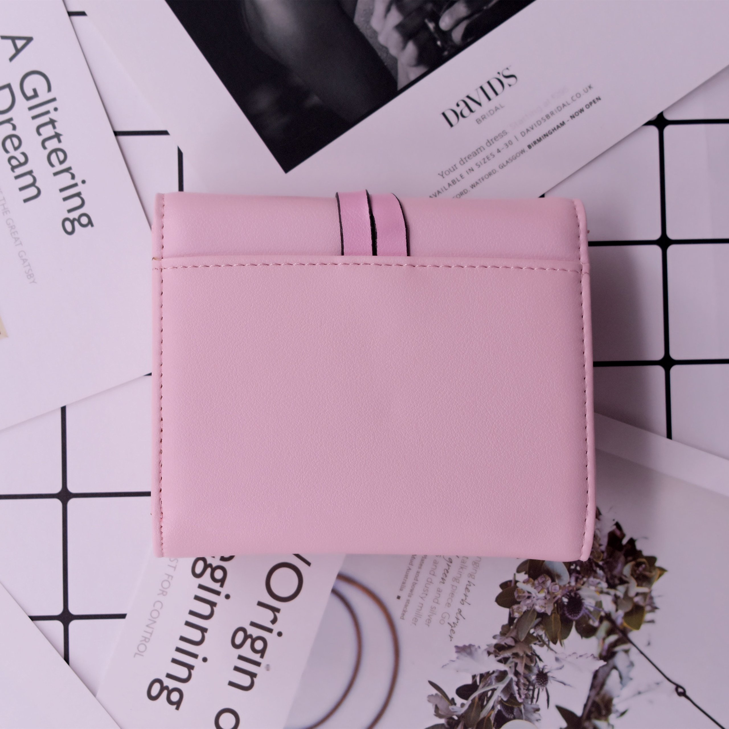 ABC STORY Womens Cute Pink Purse Card Holder Small Trifold Wallets For Teen Girls by ABC STORY (Image #6)