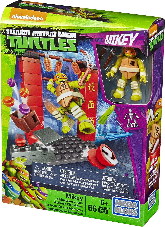 Mega Bloks Teenage Mutant Ninja Turtles Mikey Chinatown Chase Set