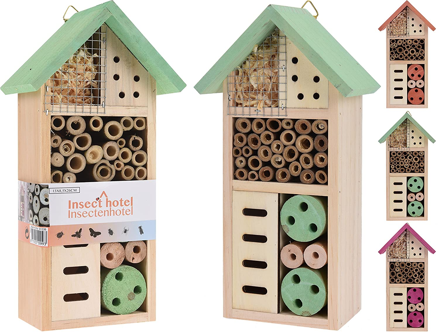 Elyte Retail Insect Bee Bug Wildlife House Hotel Available in 2 Funky colours - Funky Green and Funky Pink (Funky Green)