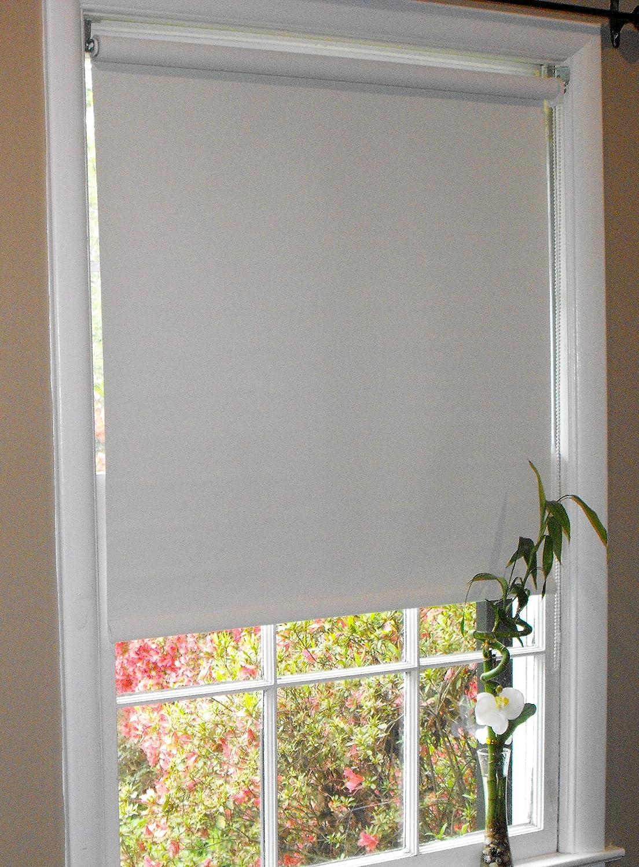Amazoncom Pure White Blackout Window Roller Shades 60 x 72