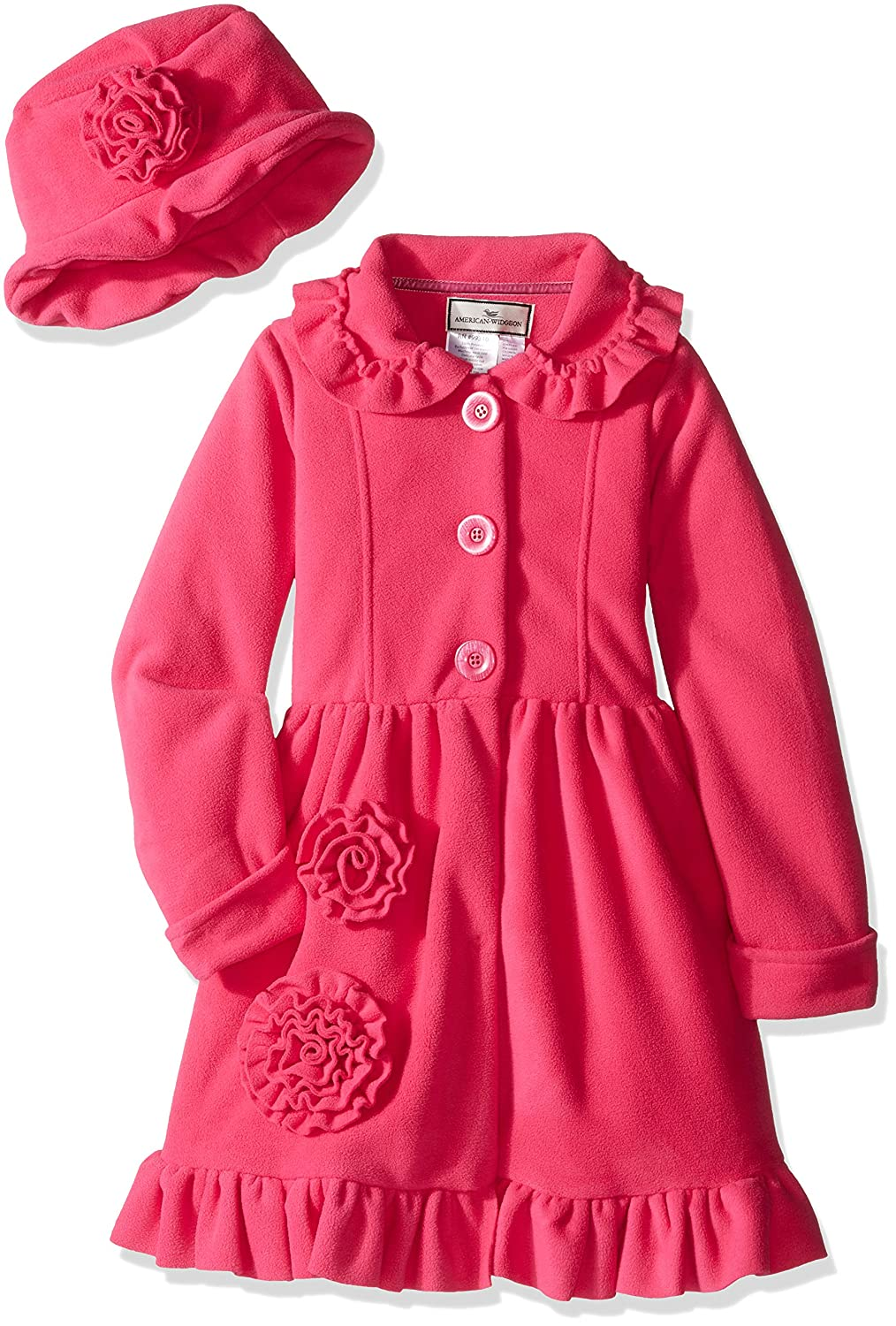 Widgeon Girls Button Front Bell Coat with Hat