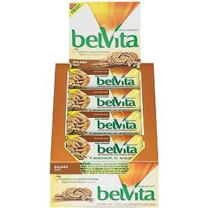 belVita Breakfast Biscuits, Golden Oat Flavor, 8 Packs (4 Biscuits Per Pack)