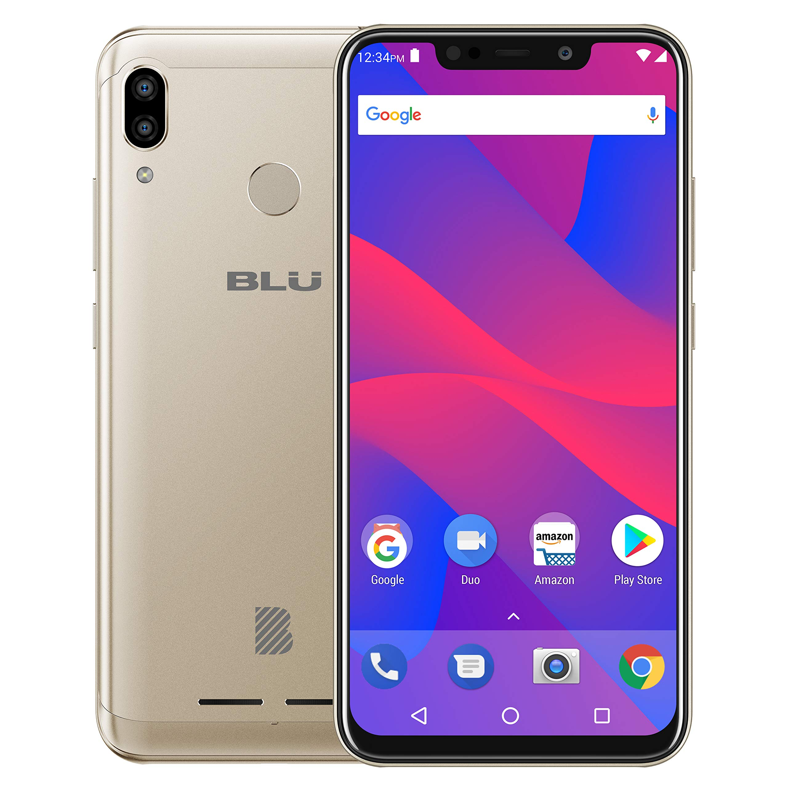 "BLU VIVO XL4 – 6.2"" HD Display Smartphone, 32GB+3GB RAM –Gold by BLU (Image #2)"