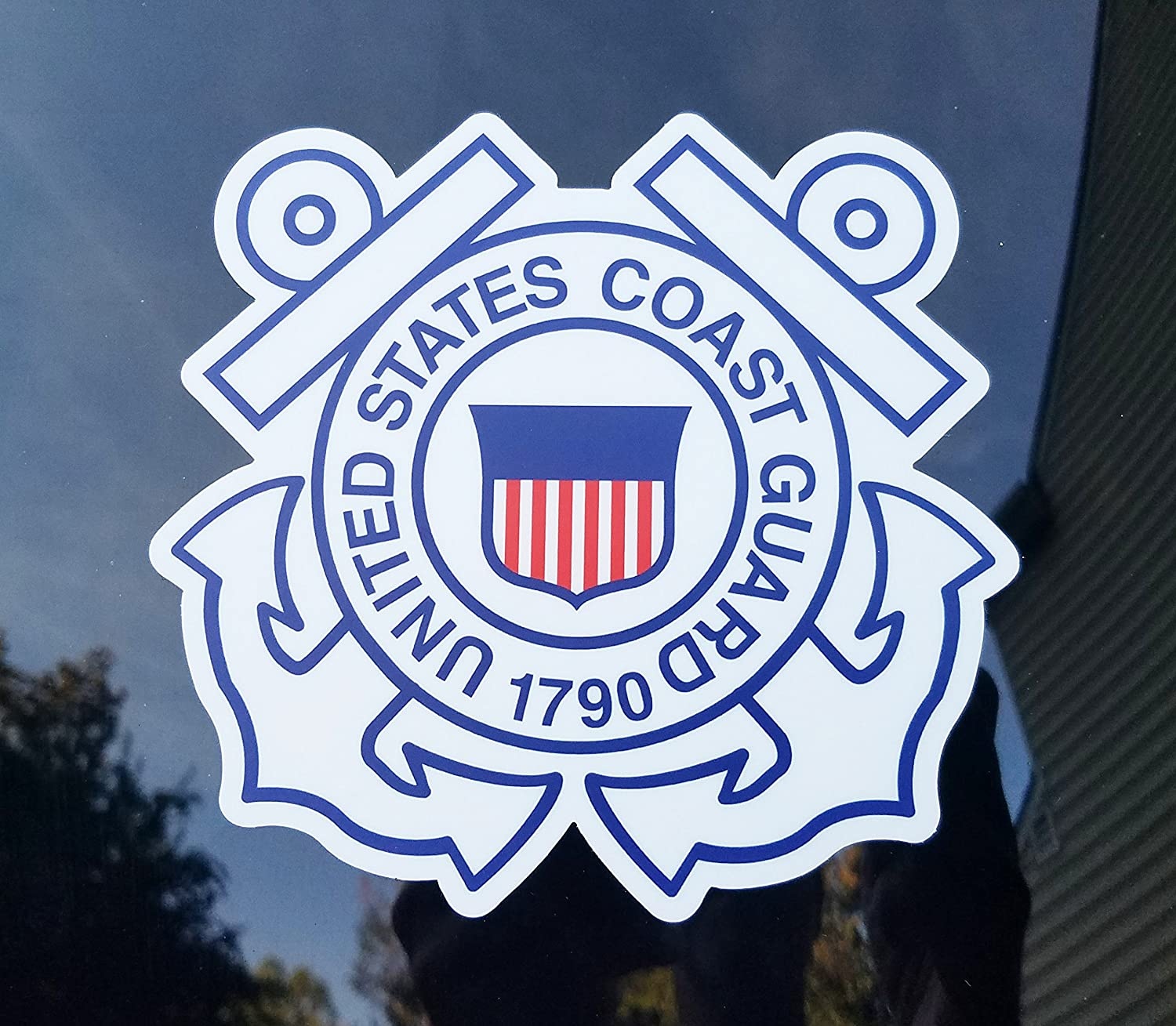Minglewood Trading USCG UNITED STATES COAST GUARD Die Cut Vinyl Sticker 5 x 5 USCG Coastie