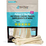 Raw Paws Pet Premium 10-inch Compressed Rawhide Bones for Dogs, 5-Count - Packed in USA - Long Lasting Dog Chews - Chews…