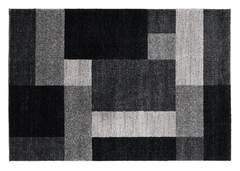 CONTESTO OBLONG moderner Teppich, Designer Teppich,Fresee in grau, Größe  140x200 cm