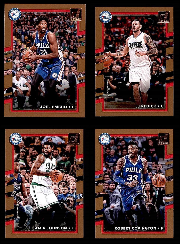 2017-18 Donruss Philadelphia 76ers Almost Complete Team Set Philadelphia 76ers (Baseball Set) Dean's Cards 8 - NM/MT 76ers 91EJEMfjQmL