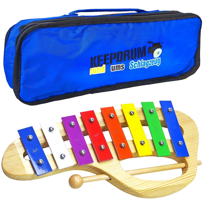 KEEPDRUM KGS-C Glockenspiel aus Holz mit Tasche: Amazon.de ...