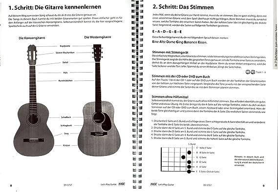 Let s Play Guitar banda 1 con 2 CD, DVD y Dunlop Púa - Songbook y guitarra Escuela: Guitarra para aprender a Jugar con 40 guitarra clásicos - Verlag HAGE ...